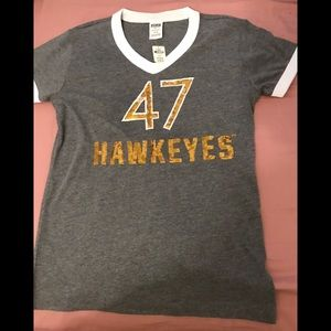 Vs pink Iowa Hawkeyes T-shirt